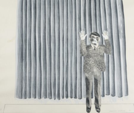 David Hockney-Figure By A Curtain (S. A. C. Mca Tokyo 37)-1964