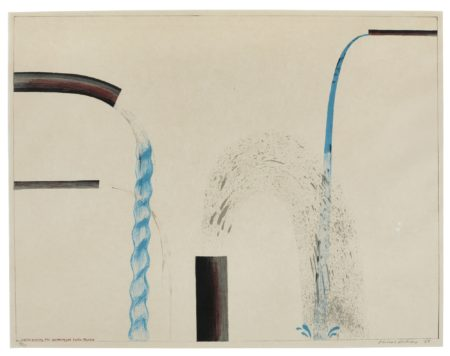 David Hockney-Water Pouring Into Swimming Pool Santa Monica (S. A. C. Mca Tokyo 38)-1964
