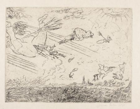 James Ensor-Sorciers Dans La Bourrrasque (D. T. E.52)-1888