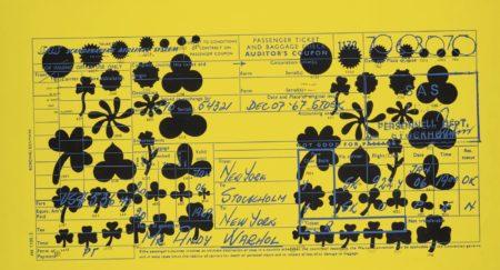 Andy Warhol-Sas Passenger Ticket (F. & S. II.20)-1968