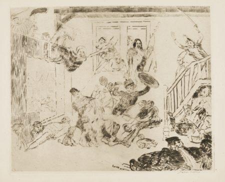 James Ensor-Le Combat Des Pouilleux DÉSir Et RissolÉ (D. T. E.19)-1888