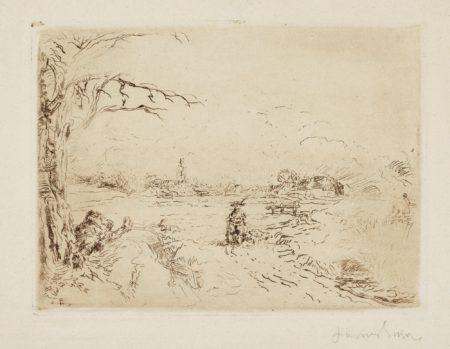James Ensor-Le Chasseur(D. T. E. 32)-1888