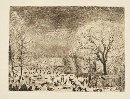 James Ensor-Les Patineurs (D. T. E. 65)-1889