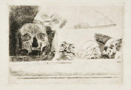 James Ensor-CrÂNes Et Masques (D. T. E. 29)-1888