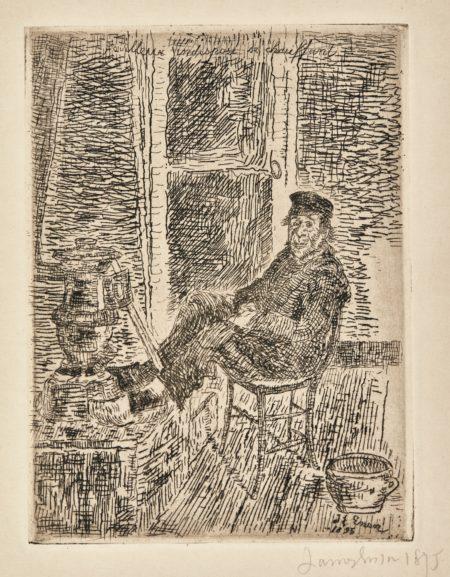 James Ensor-Pouilleux IndisposÉ Se Chauffant(D. 89; T. E.91); Le Vidangeur; And PÊCheur D'Ostende(D. T. 106 118;E. 108;123)-1900