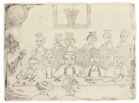 James Ensor-Les Bons Juges (D. 86; T. E. 88)-1894