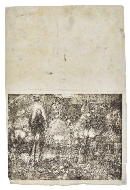 James Ensor-Alimentation Doctrinaire PremiÈRe Planche(D. T. E. 79)-1889