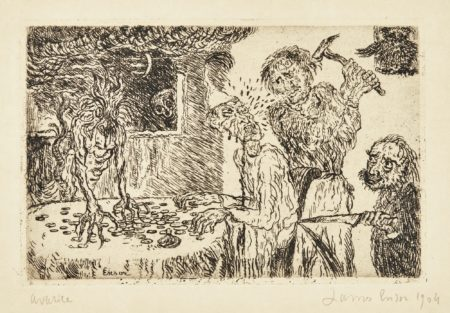 James Ensor-L'Avarice (D. T. 123; E. 128)-1904