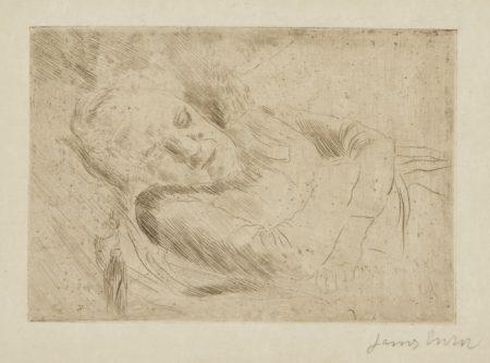 James Ensor-La Dormeuse(D. T. E.15)-1887