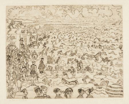 James Ensor-Les Bains À Ostende (D. T.115; E. 120)-1899