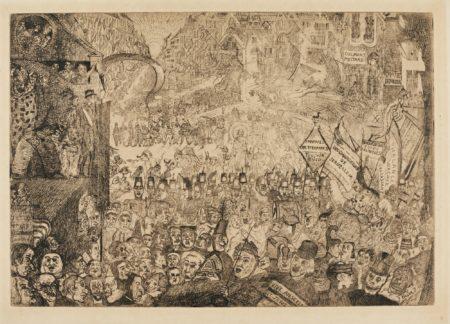 James Ensor-L'EntrÉE Du Christ À Bruxelles (D. T. 114; E. 118)-1899