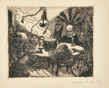 James Ensor-Squelettes Voulant Se Chauffer; And Le Roi Peste (D. T. 98 100; E. 100 102)-1895