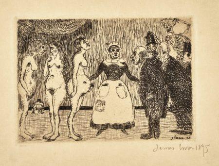 James Ensor-Les Vieux Polissons(D. T. 101; E. 104)-1895
