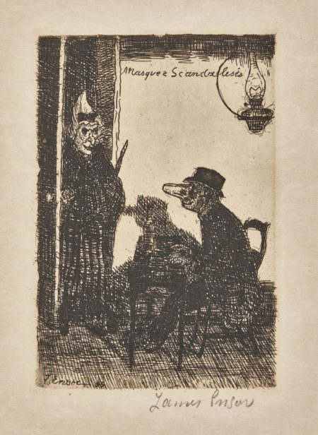 James Ensor-Masques ScandalisÉS (D. T. 99; E. 101)-1895