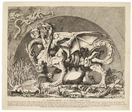 Louis Jean Desprez-La ChimÈRe De Monsieur Desprez (Wollin 22; Baudicour 6)-1784