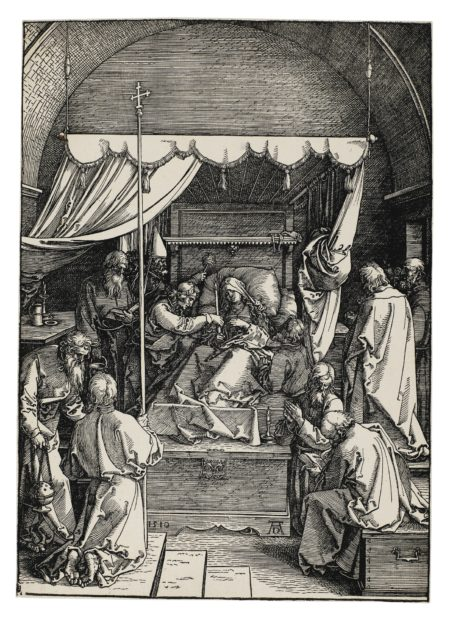 Albrecht Durer-The Death Of The Virgin (B. 93; M. Holl. 205)-1510