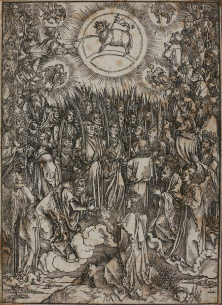 Albrecht Durer-The Opening Of The Fifth And Sixth Seals; The Adoration Of The Lamb (B. 65 67; M. Holl. 168 176); Christ on the Mount of Olives (B. 6; M. Holl. 115); Christ in Limbo (B. 14; M. Holl. 121)-1510
