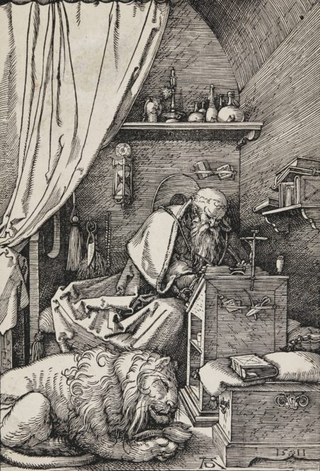 Albrecht Durer-St. Jerome In His Cell (B. 114; M. Holl. 228)-1511