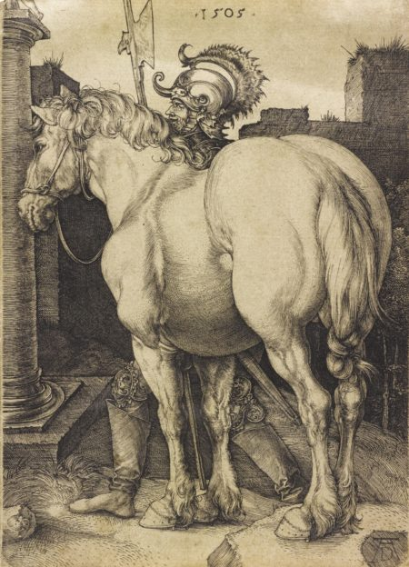 The Large Horse  (B. 97; M. Holl. 94)-1505