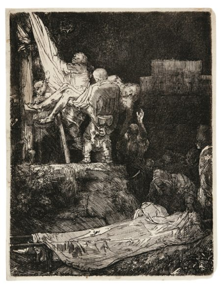 Rembrandt van Rijn-The Descent From The Cross By Torchlight (B. Holl. 83; New Holl. 286; H. 280)-1654