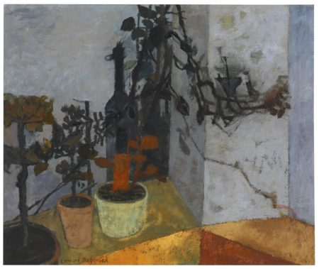 Leonard Rosoman-Still Life With Pot Plants And Bottle-1954