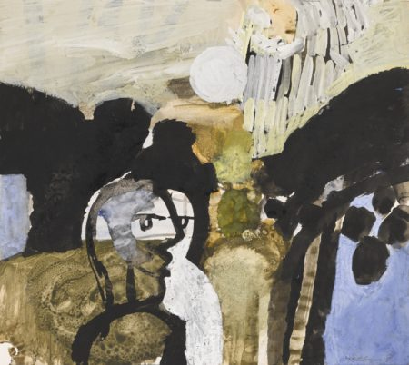 Keith Vaughan-Landscape With Figures Conversing-1959