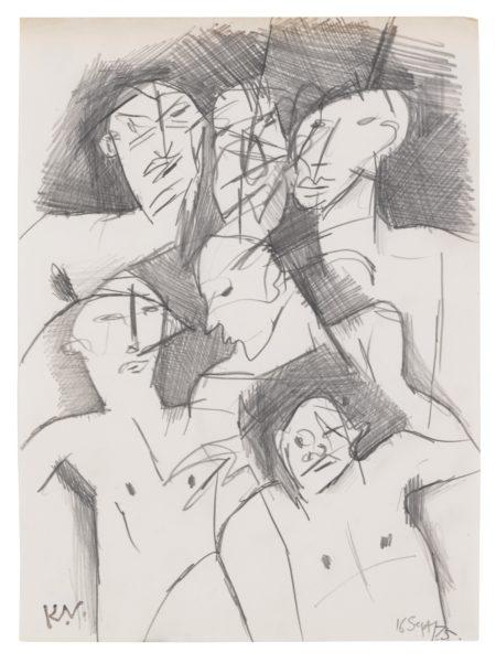 Keith Vaughan-Six Figures-1975