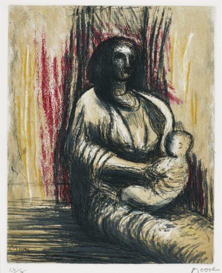 Henry Moore-Mother And Child (Cramer 668)-1983