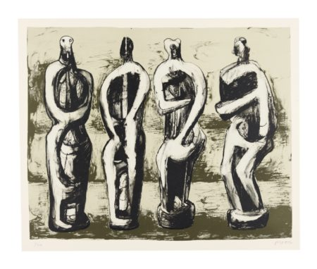 Henry Moore-Four Standing Figures (C. 489)-1978