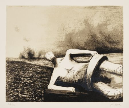 Henry Moore-Male Figure In Landscape (C. 470)-1978
