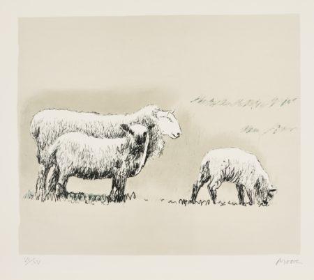 Sheep In Landscape (C. 558)-1974