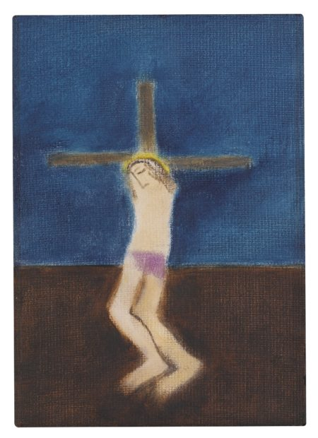 Craigie Aitchison-Small Crucifixion-1984