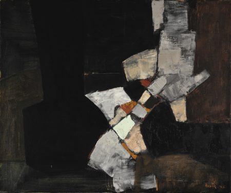Adrian Heath-Composition Black And Grey-1958