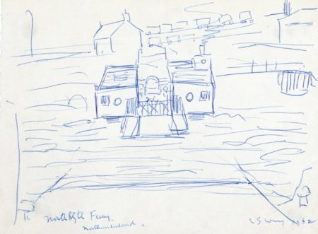 Laurence Stephen Lowry-North Blyth Ferry Northumberland-1962