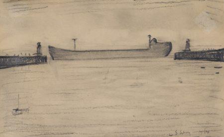 Laurence Stephen Lowry-Tanker-1960
