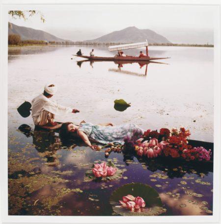 Norman Parkinson-Barbara Mullen Floating With Flowers Kashmir India Vogue 1956 Barbara Mullen Pale Cool Of Kashmir India Vogue 1956-