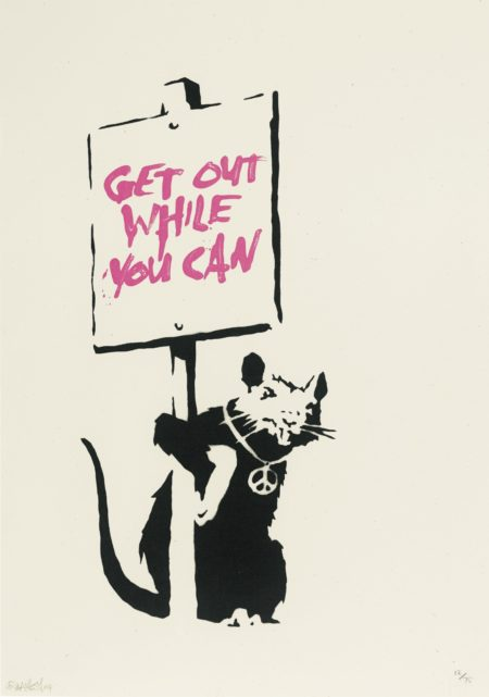 Banksy-Get Out While You Can-2004