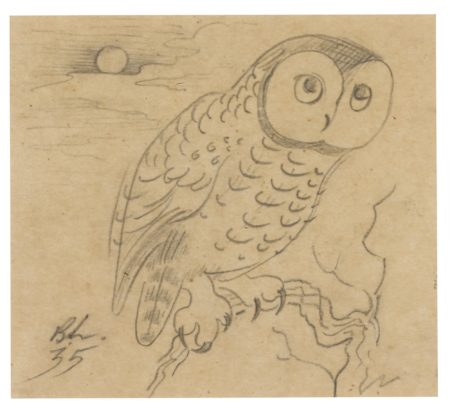 Bernard Leach-Owl-1935
