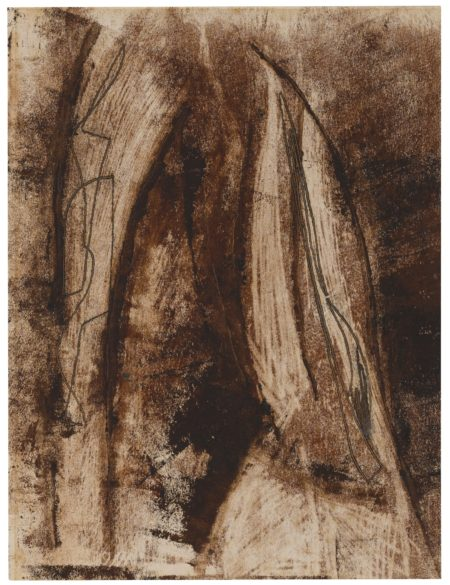 Peter Lanyon-Drawing For Wood Sculpture-1947