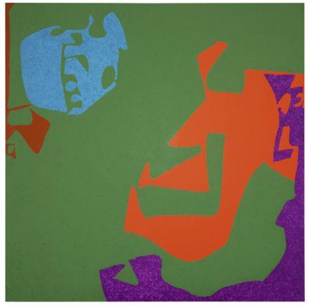 Patrick Heron-Complex Ceruleum In Dark Green Square: March - August 1977-