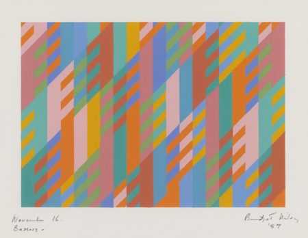 Bridget Riley-November 16 Bassacs-1987
