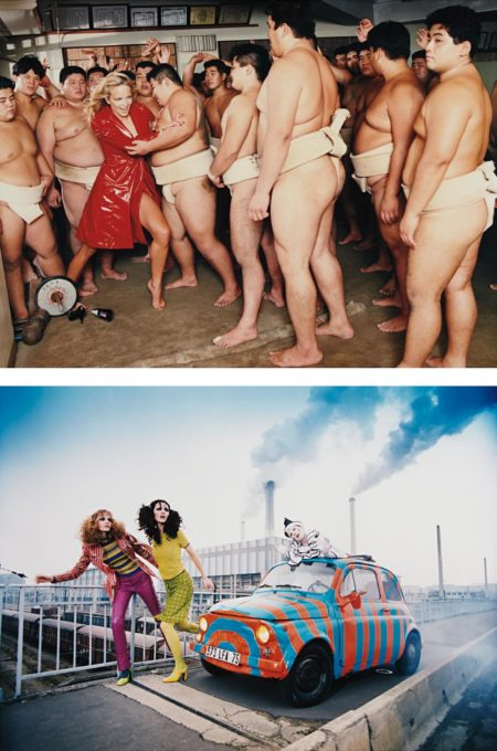 David LaChapelle-Two Works: (i) Pierrot Story, Paris; (ii) Rachel And Sumo Wrestlers, Tokyo-1995