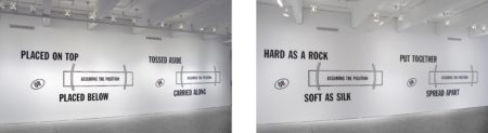 Lawrence Weiner-Hard As A Rock Or (Assuming The Position) Soft As Silk Put Together Or (Assuming The Position) Spread Apart Placed On Top Or (Assuming The Position) Placed Below Tossed Aside Or (Assuming The Position) Carried Along-1989