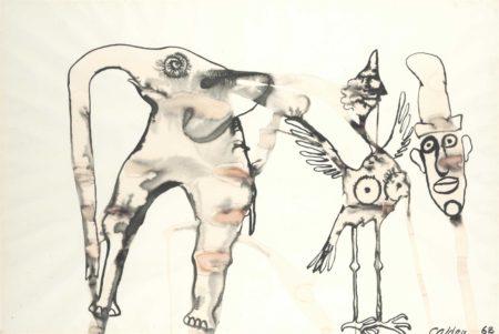 Alexander Calder-Éléphant et oiseau-1968