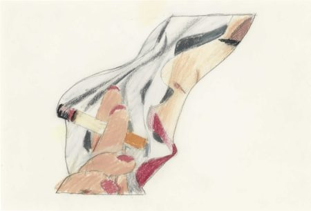 Tom Wesselmann-Study for Smoker Profile-1978