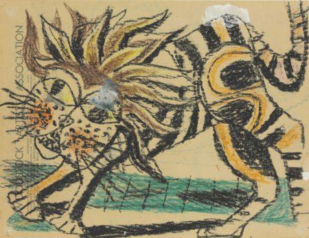 Philip Guston-A Lion-1947