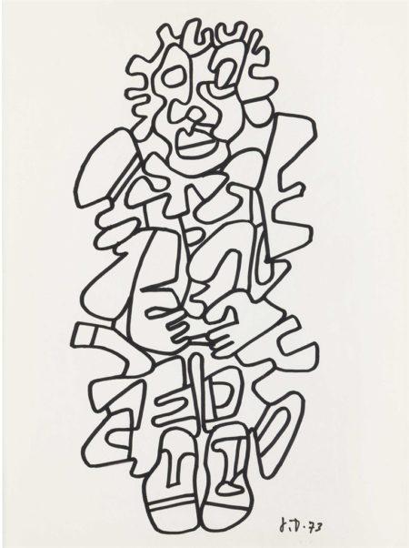 Jean Dubuffet-Personnage costumé-1973