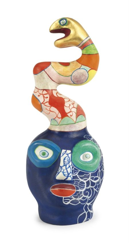 Niki de Saint Phalle-Head with Snake-1985