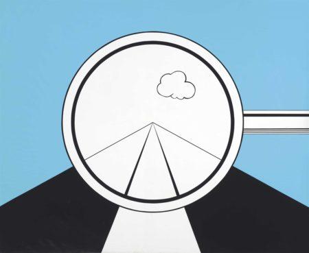 Allan D'Arcangelo-Rear View Mirror in Aspen-1967