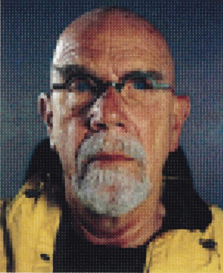 Chuck Close-Self-Portrait (Yellow Raincoat)-2013
